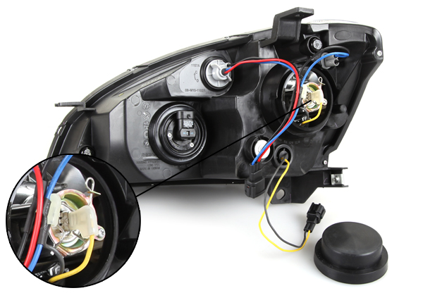 05 06 Nissan Altima Black Projector Head Lights Pair Ebay