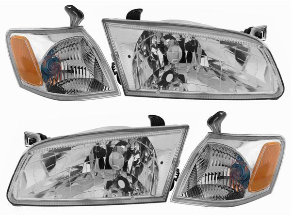 97 99 Toyota Camry Chrome Diamond Headlights Corners 4pcs Set