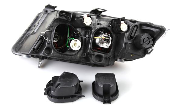 06 08 Bmw E90 4d Black Projector Headlights Halo Depo Ebay