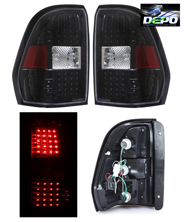 02 08 Trail Blazer Trailblazer Led Tail Light Black By Depo